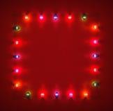 Glödande ljusa kulor för ramââfrom Arkivbilder