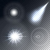 Glödande ljuseffekt Arkivfoto