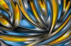 Glödande modell för färgrikt abstrakt begrepp Fotografering för Bildbyråer