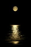 glödande moon Arkivfoton