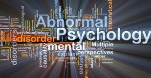 glödande psykologi för onormalt bakgrundsbegrepp Arkivfoto