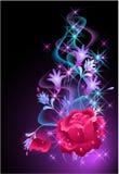 glödande rose rök för bakgrund royaltyfri illustrationer