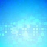 Glödande rundad tegelplattabakgrund för blå och ljus turkos royaltyfri illustrationer