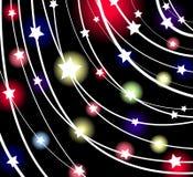 glödande stjärnavektor Arkivfoton