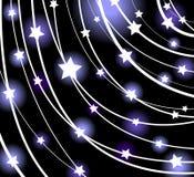 glödande stjärnavektor Arkivbilder
