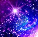 glödande stjärnor Arkivfoton
