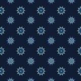 Glödande stjärnor texturerar den sömlösa vektormodellen Utdragen stjärnklar magi royaltyfri illustrationer