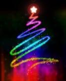 glödande tree för jul vektor illustrationer