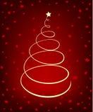 glödande tree för jul Fotografering för Bildbyråer