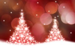 glödande trees för jul Arkivfoton