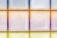 Glödande vägg för abstrakt bakgrund av exponeringsglas Arkivbilder