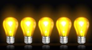 Glödande vektor för ljus kula Arkivfoton