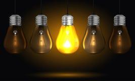 Glödande vektor för ljus kula Royaltyfri Foto