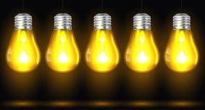 Glödande vektor för ljus kula Royaltyfri Fotografi
