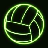 Glödande volleyboll Fotografering för Bildbyråer
