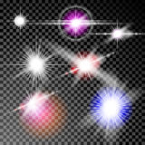 Glödeffekter, sken, stjärnor Fotografering för Bildbyråer