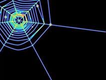 glöder spiderweb Royaltyfri Foto
