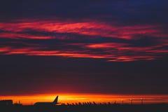 Glödhet soluppgång Arkivfoto