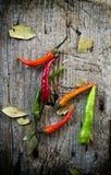 Glödheta Chilipeppar Arkivfoto