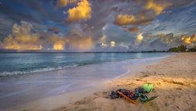 glömd strand Arkivfoton