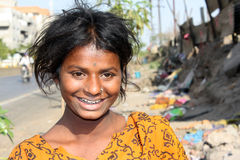Glück in der Armut Stockbilder