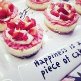 Glück ist ein Stück des Kuchens stockbilder