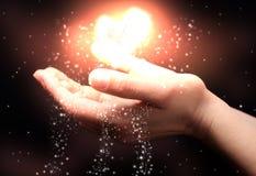 Glück ist in Ihren Händen lizenzfreie abbildung