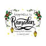 Glück ist Ramadan, das weiß, dass Ramadan sehr bald kommt! lizenzfreie abbildung