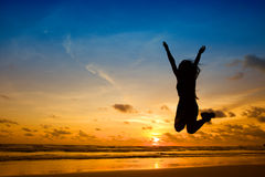 Glück liegt in den einfachen Sachen Stockbild