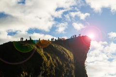Glücklich auf dem Hügel Stockbild