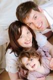 Glücklich-Familie Stockfoto