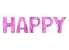 glücklich Farbrosa Lizenzfreies Stockfoto
