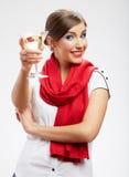 Glücklich feiern Sie Frauenporträt Lizenzfreies Stockbild