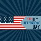 Glücklich Juli 4. - Unabhängigkeitstag-Vektor-Design vektor abbildung