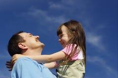Glücklich mit Vater Lizenzfreies Stockfoto
