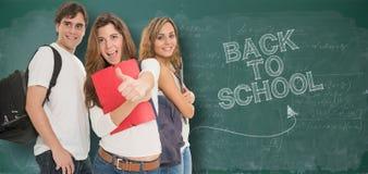Glücklich zurück zu Schule stockbilder