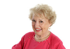 Glückliche ältere Dame Lizenzfreie Stockbilder
