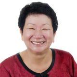 Glückliche ältere Frau. lizenzfreies stockbild