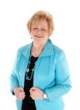 Glückliche ältere Frau im Porträt Stockfotos