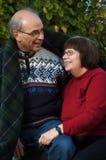 Glückliche ältere Paare Stockbild