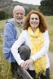 Glückliche ältere Paare lizenzfreie stockfotos