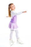Glückliche Abbildung Eislauf des jungen Mädchens. Getrennt. Lizenzfreies Stockbild