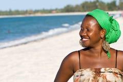 Glückliche afrikanische Frau Lizenzfreies Stockbild