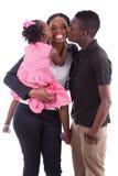 Glückliche afrikanische Mutter mit ihren Kindern Lizenzfreies Stockbild