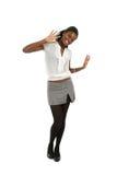 Glückliche Afroamerikanerfrau Stockbild