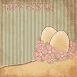 Glückliche alte Abdeckungskarte Ostern, Vektor Stockbild