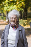Glückliche alte Dame stockfoto