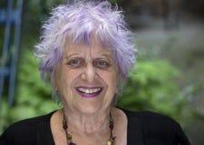 Glückliche alte Frau Lizenzfreies Stockfoto
