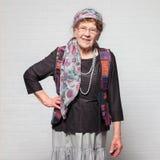 Glückliche alte Frau Stockbilder