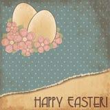 Glückliche alte Grußkarte Ostern, Vektor Stockbild